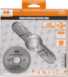 Panza circular vidia pentru lemn EVOTOOLS diametru 110 mm material YG8 40 dinti grosime 1.2 mm diametru interior de prindere 22.23 mm Lacate