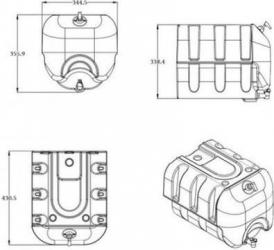 Rezervor apa Motor Starter 30L dozator de sapun 250 ml dotat cu pompa de distributie robinet cu twister negru Lacate