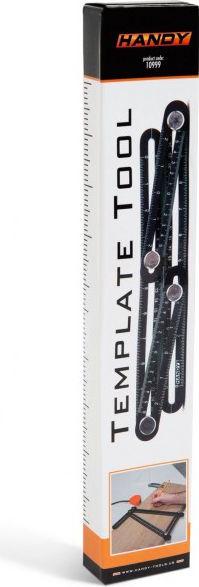Rigla metalica cuadrilaterala Handy cu copiator de unghi masurare cm/inch scalare rigla 0-25 mm scalare rigla reversibila 6- 0 - 6 cm Lacate