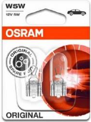Set 2 Becuri auto auxiliare cu halogen Osram W5W 12V 5W Lacate