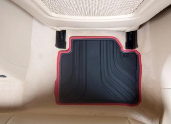 Set 2 covorase auto spate Originale BMW Seria 3 F30 2011 - Prezent negru/rosu Lacate
