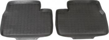 Set 2 covorase cauciuc spate negre tip tavita Premium compatibil BMW seria 3 E90 E91 E92 an fabricatie 2004 - 2013 Lacate