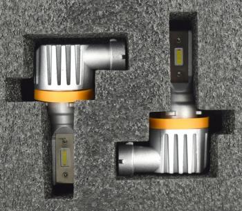 Set Bec H11 LED 2121 CSP led chip 4000 lumeni 6000K Voltaj 12-24V plug and play protectie IP68 racire cu radiator