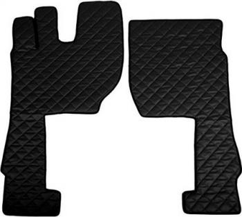 Set covorase/presuri F-CORE Volvo FH4 euro 6 cutie manuala piele ecologica negru Lacate
