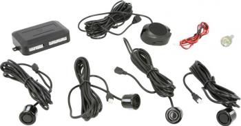 Set senzori de parcare M-TECH 12V cuolare negru diametru senzor 18mm montaj spate autovehicul Alarme auto si Senzori de parcare