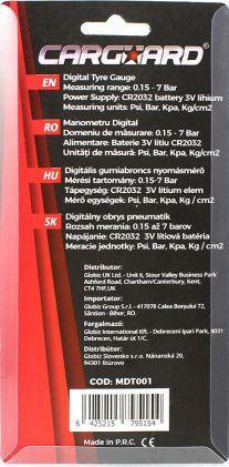 Tester presiune pneuri 0 15 - 7 Bar afisare si in PSI Kg/cm2 kPa Lacate