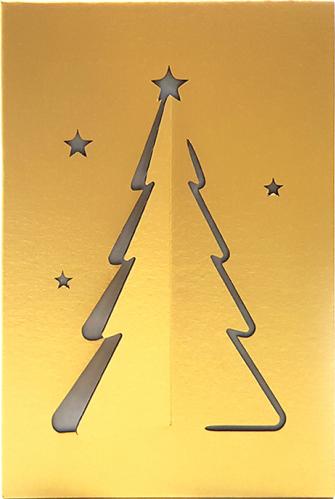 Veioza din carton cu LED 12W cu spirit de Sarbatori culoare auriu cablul cu intrerupator pe fir 140 cm Lacate