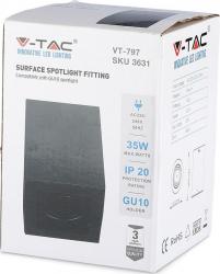 Spot aplicat negru dulie GU10 V-TAC Corpuri de iluminat