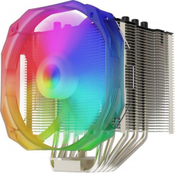 Cooler CPU Fortis 3 EVO ARGB compatibil IntelAMD ventilator 140mm PWM ARGB Coolere componente