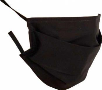 Masca protectie din bumbac 2 straturi Negru Masti chirurgicale si reutilizabile