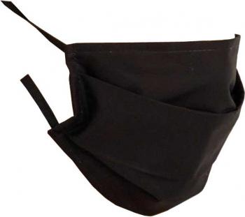 Set 5 x Masca protectie din bumbac 2 straturi Negru Masti chirurgicale si reutilizabile