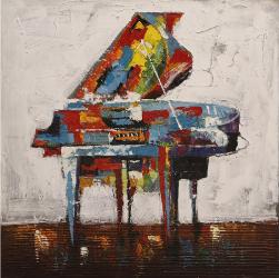 Tablou Canvas Piano CD00381 100x100 cm Joyard Tablouri