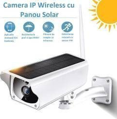 Camera IP Wireless Zenteko de Exterior Full HD cu Panou Solar SM20 plus Card MicroSD 32Gb Camere de Supraveghere