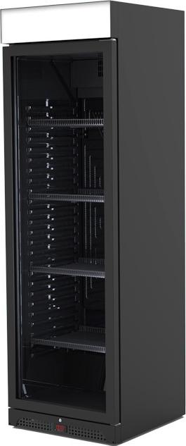 Vitrina Coolpoint AHT cu usi - model RVC-300 BLACK LED 385 L
