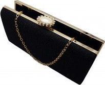 Clutch insertii lurex Tia accesorii negru Genti de dama