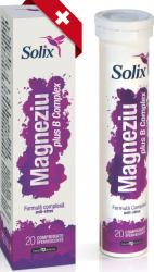 Solix Magneziu plus B Complex 20 de comprimate efervescente