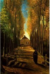 Tablou forex Alee toamna Van Gogh color 50 x 70 cm Tablouri