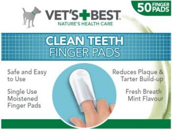 Degetare curatare dinti pentru caini Vets Best 50 buc Ingrijire si igiena animale