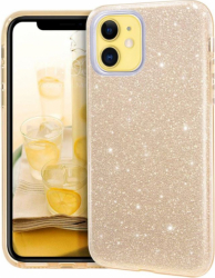 Husa Apple iPhone 11 6.1 Color Silicon TPU Carcasa Sclipici Auriu Gold Huse Telefoane