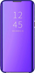 Husa Huawei Y6 2019 Clear View Flip Toc Carte Standing Cover Oglinda Mov Purple Huse Telefoane