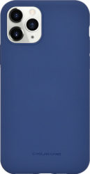 Husa iPhone 11 Pro 2019 Albastru Carcasa Spate Silicon Mat Molan Cano Huse Telefoane