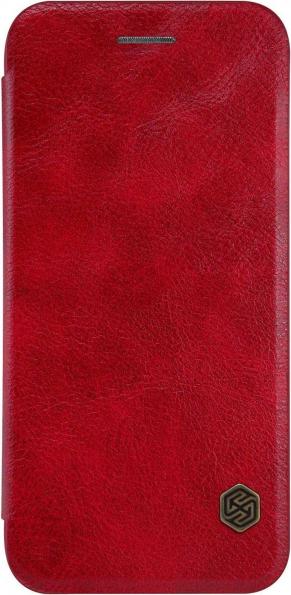 Husa iPhone 11 Pro Max 2019 Rosu Toc Flip Nillkin Qin Piele Eco Premium Tip Carte Portofel Huse Telefoane