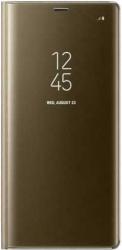 Husa Samsung Galaxy A5 A8 2018 Clear View Flip Toc Carte Standing Cover Oglinda Auriu Gold