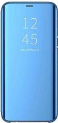 Husa Samsung Galaxy J4 Plus 2018 Clear View Flip Toc Carte Standing Cover Oglinda Albastru Blue