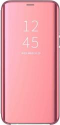 Husa Samsung Galaxy J6 2018 Clear View Flip Toc Carte Standing Cover Oglinda Roz Rose Gold
