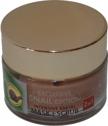 Masca si scrub 2in1 extract de melc si acid hialuronic 50 ml