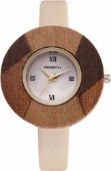 Ceas elegant de dama Rebirth cadran lemn model deosebit crem Ceasuri de dama