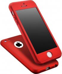 Husa Fullbody MyStyle Red pentru Apple iPhone 5 / Apple iPhone 5S/ Apple iPhone 5SE acoperire completa 360 grade folie de protectie gratis