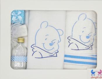 Trusou botez DanyKids cu Winnie brodat model 1 in cutie Articole botez
