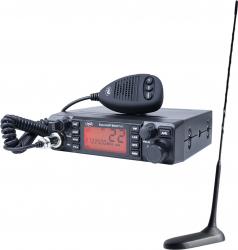 Kit Statie radio CB PNI ESCORT HP 9001 PRO ASQ 12/24 + Antena CB PNI Extra 45 cu magnet Alarme auto si Senzori de parcare