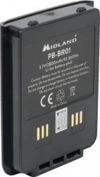 Acumulator Midland PB-BR01 Li-Ion 2800mAh pentru statii radio PMR Midland BR01 Alarme auto si Senzori de parcare