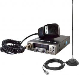 Pachet statie radio CB Midland M10 ASQ Digital 12V + Antena CB PNI Extra 40 cu magnet Alarme auto si Senzori de parcare