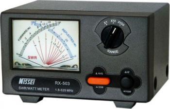 Reflectometru analogic PNI Nissei RX-503 SWR 1.8-525 MHZ Wattmeter 0-200W 12V Alarme auto si Senzori de parcare