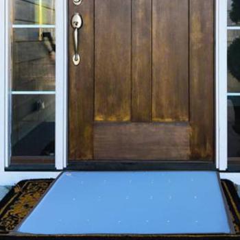 Covoras intrare pentru dezinfectare cu orificii pt clorinare 50x70cm x 3cm Albastru Articole protectia muncii