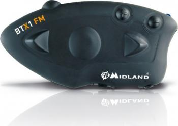 Sistem comunicare moto Midland BTX1 FM single pack