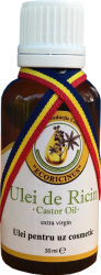 Ulei de ricin Castor oil extra virgin pentru uz cosmetic Ecoricinus 10 ml Masti, exfoliant, tonice