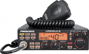Statie radio CB President LINCOLN II ASC 10 -12 m Roger Bep ANL NB Hi-Cut Filter AM-FM-USB-LSB-CW Programabila 12V