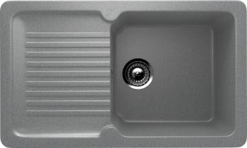 Chiuveta Bucatarie Dreptunghiulara Compozit Ulgran U-506-309 Gri inchis Reversibila Sifon Complet inclus