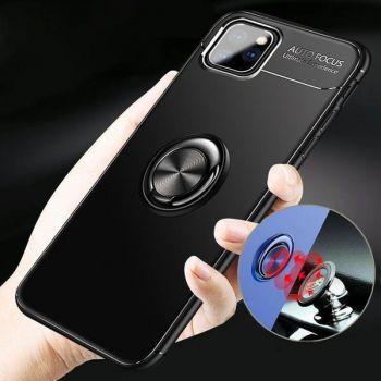 Husa cu inel argintiu Auto Focus Apple Iphone 11 Pro Negru Huse Telefoane