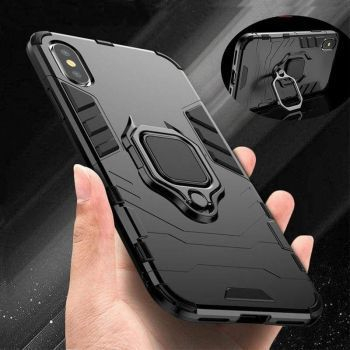 Husa cu inel Armor Apple Iphone 11 Pro Max Negru Huse Telefoane