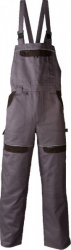 Pantaloni salopeta cu pieptar Cool Trend gri-negru marimea 48