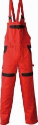 Pantaloni salopeta cu pieptar Cool Trend rosu-negru marimea 58