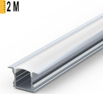 PROFIL LED ALUMINIU INCASTRAT 2M Corpuri de iluminat