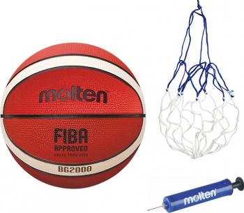 Minge baschet Molten B5G2000 noua GR5 aprobata FIBA cauciuc marime 5 pompa si plasa