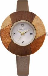 Ceas elegant de dama Rebirth cadran lemn model deosebit bej Ceasuri de dama