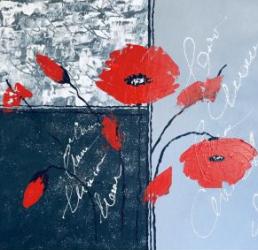 Maci Rosii tablou pictat manual Corina Tamas dimensiune 50 x 40 cm Tablouri